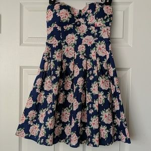 Navy Floral Dress (NEW)